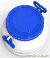 Бідон 75л (28см / синя кр.) Харчовий білий (ЕП) (17187)
