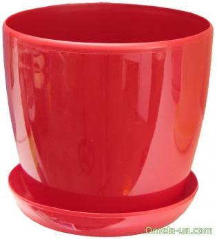Глянець з підставкою (18см 3.3л) (червоний)